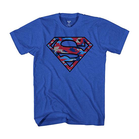 Little & Big Boys Crew Neck Superman Short Sleeve Graphic T-Shirt
