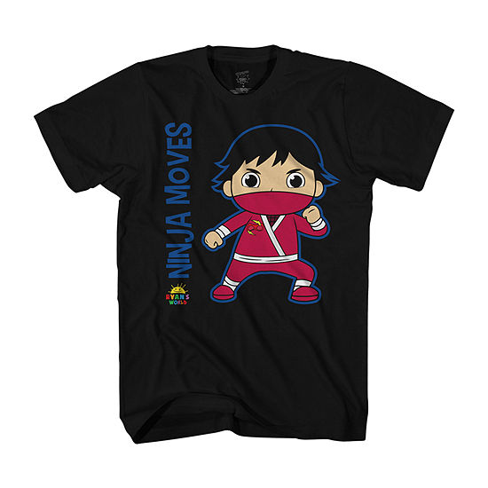 Little & Big Boys Crew Neck Ryans World Short Sleeve Graphic T-Shirt