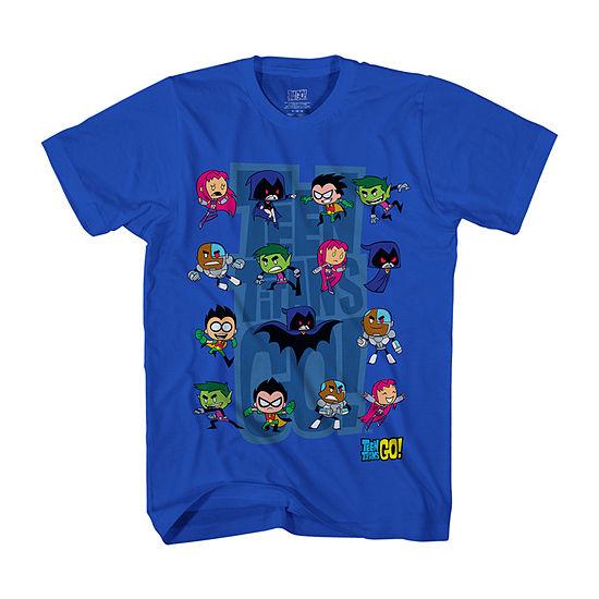 Teen Titans Little & Big Boys Crew Neck Short Sleeve Graphic T-Shirt