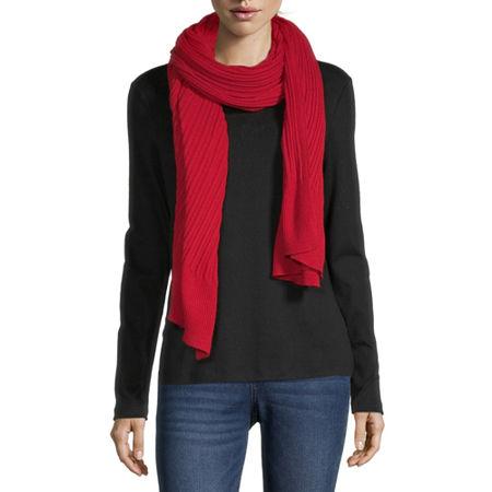 Liz Claiborne Scarf, One Size , Red - 10103850018