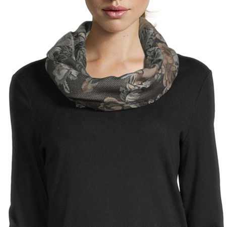 V. Fraas Floral Cold Weather Scarf, One Size , White