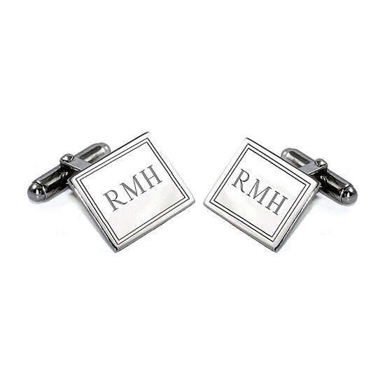 Engravable Sterling Silver Cuff Link Set