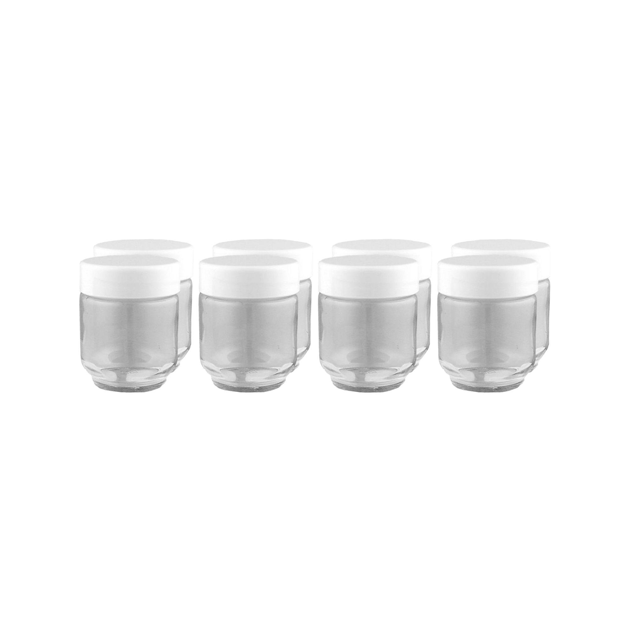 Euro-Cuisine Set of 8 Glass Jars + Lids GY1920