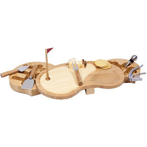 Picnic Time® Sand Trap Wine and Cheese Serving Set