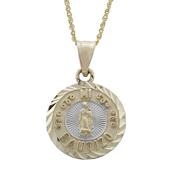 Rene Bargueiras® 14K Two-Tone Gold Mi Bautizó Pendant Necklace