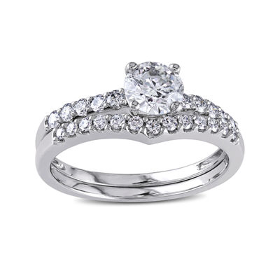1-1/7 CT. T.W. Diamond 14K White Gold Bridal Set
