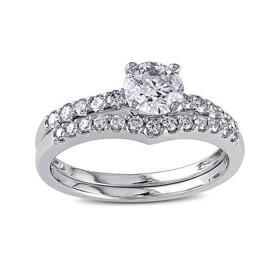 1-1/7 CT. T.W. Diamond 14K White Gold Bridal Set