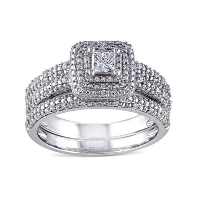 1/2 CT. T.W. Diamond 14K White Gold Bridal Ring Set