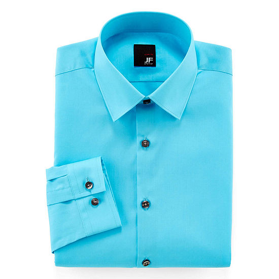 22896f8180345 JF J Ferrar Easy Care Solid Dress Shirt Slim Fit JCPenney