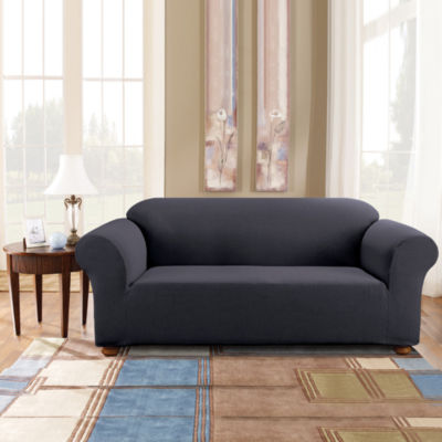 SURE FIT® Simple Stretch Subway Tile 1 Pc. Sofa Slipcover