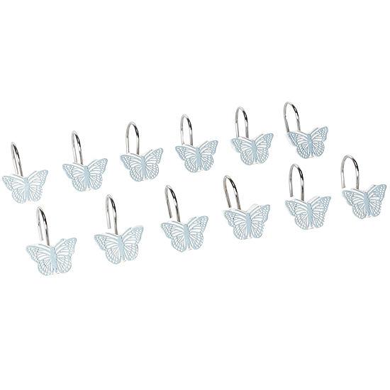 Fluttering Shower Curtain Hooks