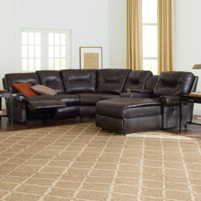 Faux-Leather Reclining Chaise Motion Sectional & Brinkley 5-pc Chaise Sectional islam-shia.org