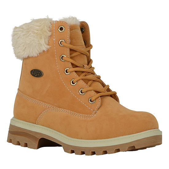 Lugz Womens Empire Hi Fur Hiking Boots Lace-up