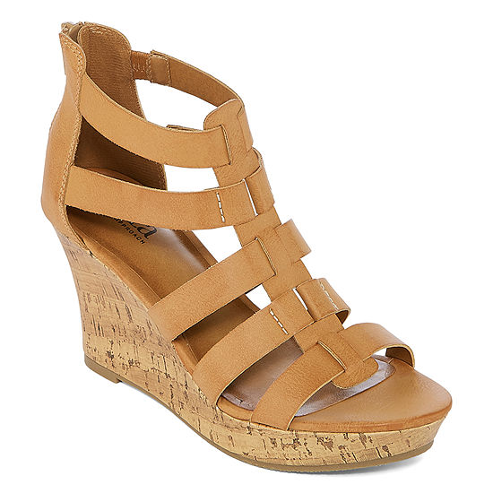 a.n.a Womens Massey Wedge Sandals