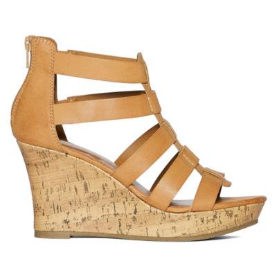 A N Massey Womens Wedge Sandals