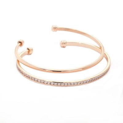 Sparkle Allure Pink Cuff Bracelet