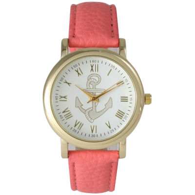 Olivia Pratt Womens Pink Strap Watch-15322coral