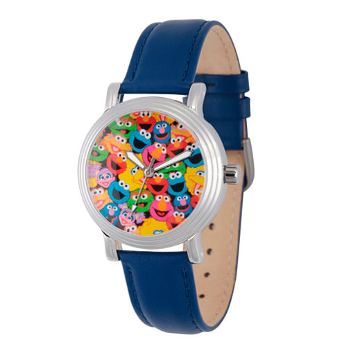 Sesame Street Womens Blue Strap Watch-Wss000002