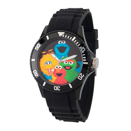 Sesame Street Unisex Black Strap Watch-Wss000009