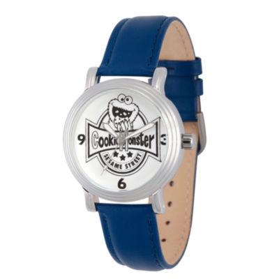 Sesame Street Womens Blue Strap Watch-Wss000018