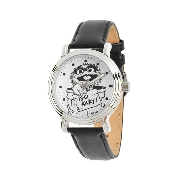 Sesame Street Womens Black Strap Watch-Wss000019