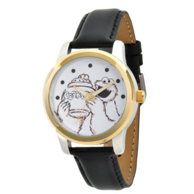 Sesame Street Unisex Black Strap Watch-Wss000021