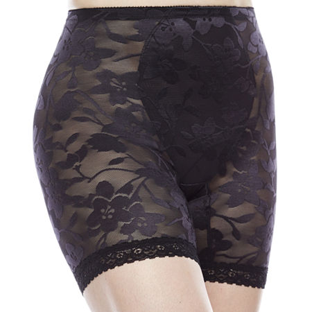Cortland Intimates Lace Thigh Slimmers - 5067, 4x-large , Black