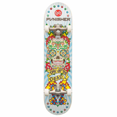 "Punisher Skateboards Day of the Dead 31.5"" ABEC-7 Complete Skateboard"