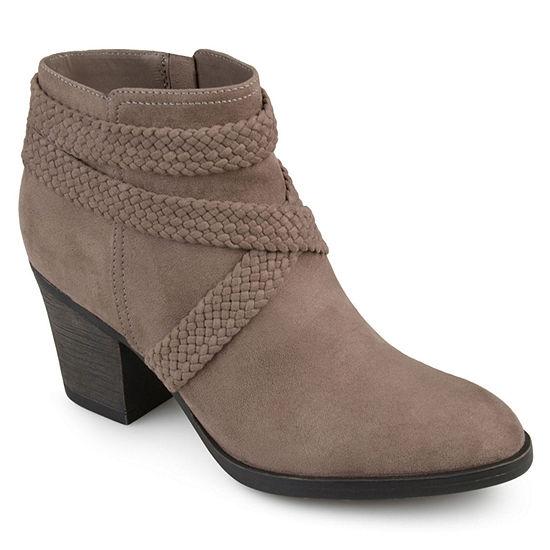 Journee Collection Womens Seneca Booties Stacked Heel