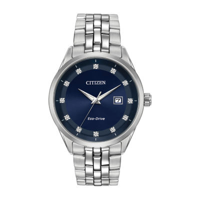 Citizen Mens Silver Tone Bracelet Watch-Bm7251-53m