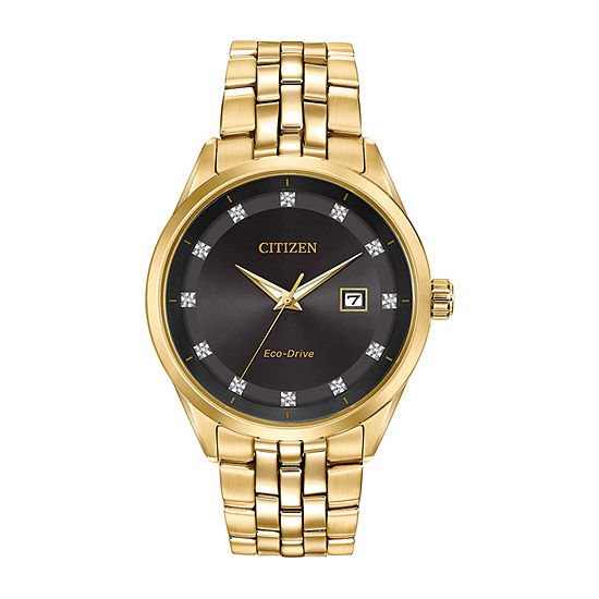 Citizen Corso Mens Gold Tone Stainless Steel Bracelet Watch - Bm7252-51g