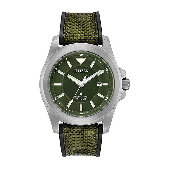 Citizen Promaster Tough Mens Green Strap Watch-Bn0211-09x