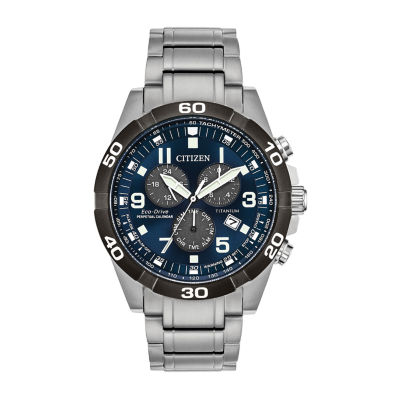 Citizen Mens Silver Tone Bracelet Watch-Bl5558-58l