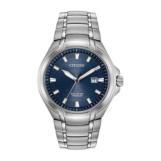 Citizen Paradigm Mens Silver Tone Bracelet Watch - Bm7431-51l
