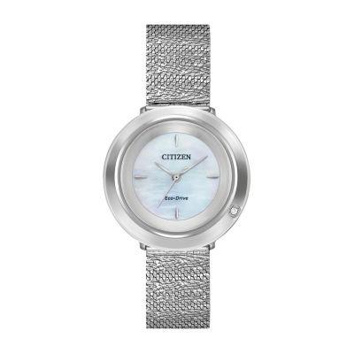 Citizen Womens Silver Tone Bracelet Watch-Em0640-58d