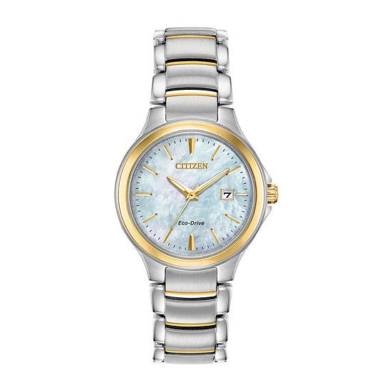 Citizen Womens Two Tone Bracelet Watch-Ew2524-55n