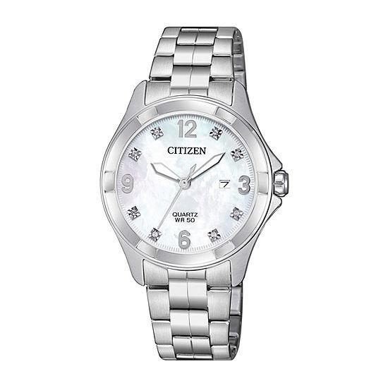 Citizen Quartz Assortment Womens Silver Tone Bracelet Watch-Eu6080-58d