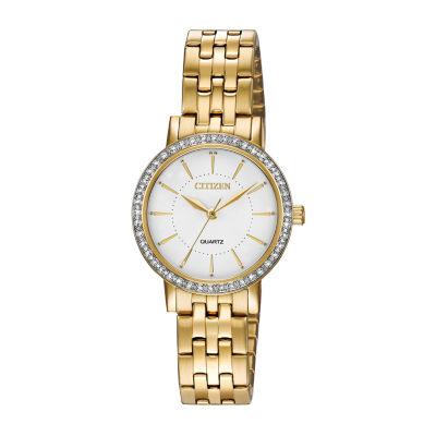 Citizen Quartz Assortment Womens Gold Tone Bracelet Watch-El3042-84a