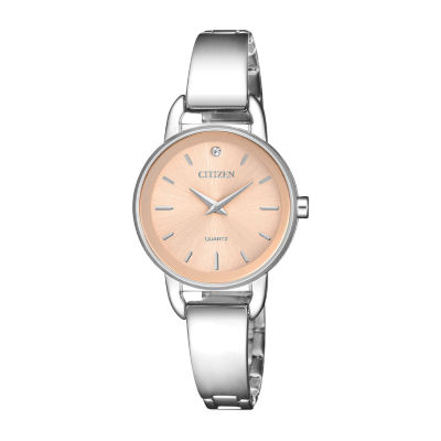 Citizen Quartz Assortment Womens Silver Tone Bangle Watch-Ez6370-56x