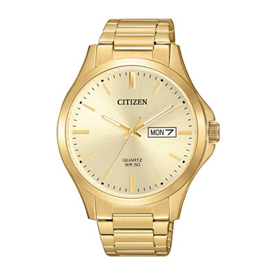Citizen Quartz Assortment Mens Gold Tone Bracelet Watch-Bf2003-84p