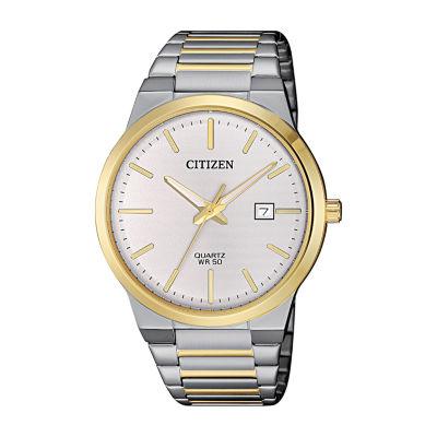 Citizen Quartz Assortment Mens Two Tone Bracelet Watch-Bi5064-50a