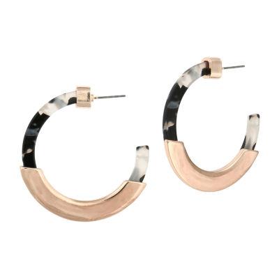 Bijoux Bar 2 3/4 Inch Hoop Earrings