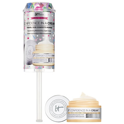 IT Cosmetics Confidence in a Cream Transforming Moisturizing Super Cream Mini Confetti Popper