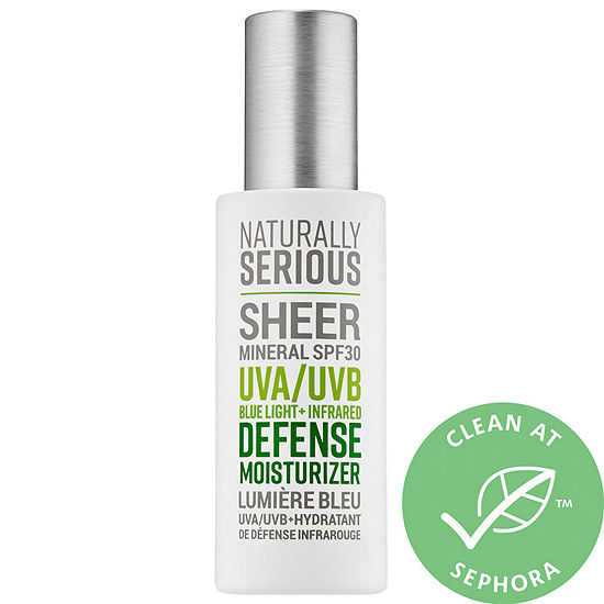 Naturally Serious Sheer Mineral SPF 30 UVA/UVB Blue Light + Infrared Defense Moisturizer