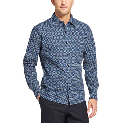 Van Heusen Never Tuck Long-Sleeve Button-Down Shirt