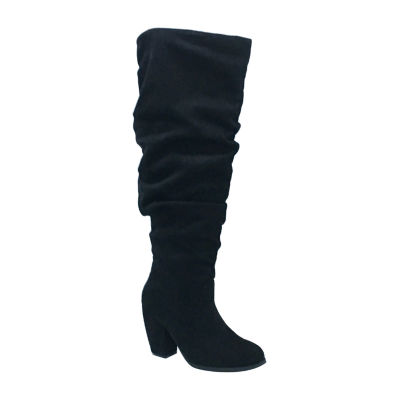 Michael Antonio Womens Ma Kianna Slouch Boots Block Heel Pull-on