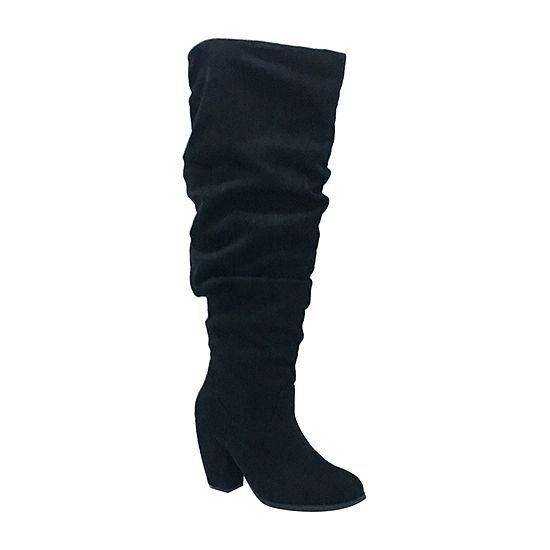 Michael Antonio Womens Ma Kianna Slouch Boots Block Heel