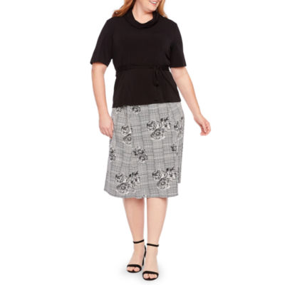 Perceptions Two-Piece Skirt Set - Plus