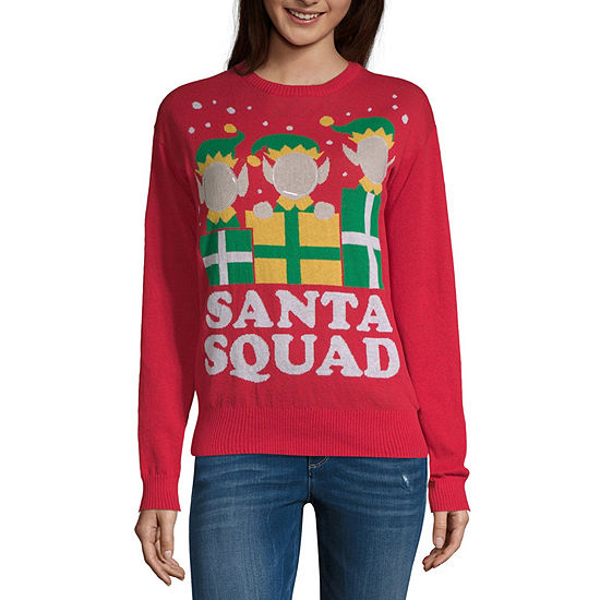 7139de0e671e6 City Streets Long Sleeve Crew Neck Holiday Pullover Sweater Juniors JCPenney