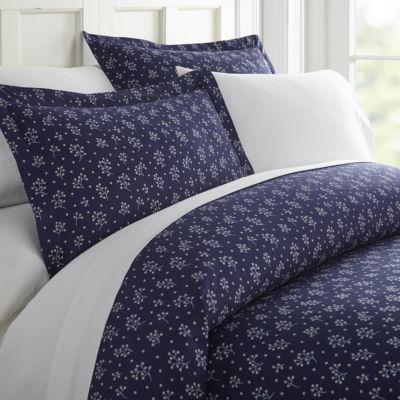 Casual Comfort Premium Ultra Soft Midnight Blossoms  Duvet Cover Set